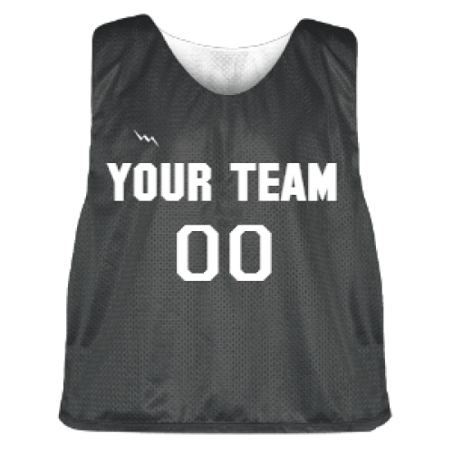 Charcoal+and+White+Lacrosse+Pinnie