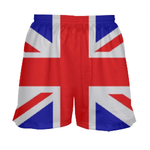 Girls+British+Flag+Lacrosse+Shorts