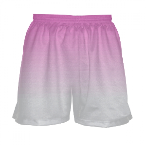Girls+Lacrosse+Shorts+-+Pink+to+White+Fade