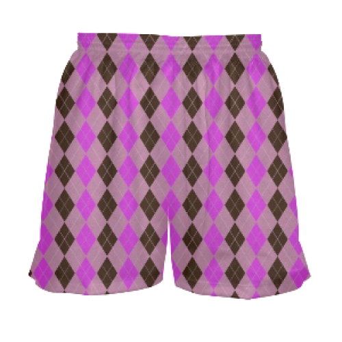 Girls+Lacrosse+Shorts+-+Pink+Argyle