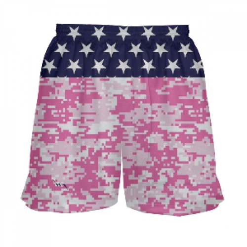 Girls+Lacrosse+Shorts+Stars+and+Pink+Camo