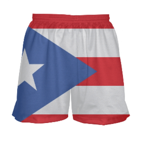 Girls+Puerto+Rico+Flag+Shorts