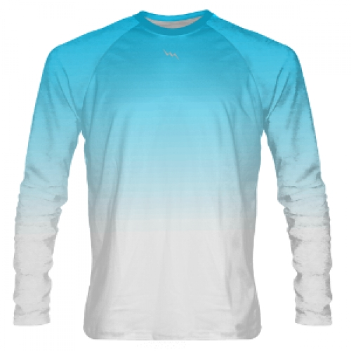 Powder+Blue+to+White+Fade+Long+Sleeve+Shooter+Shirts