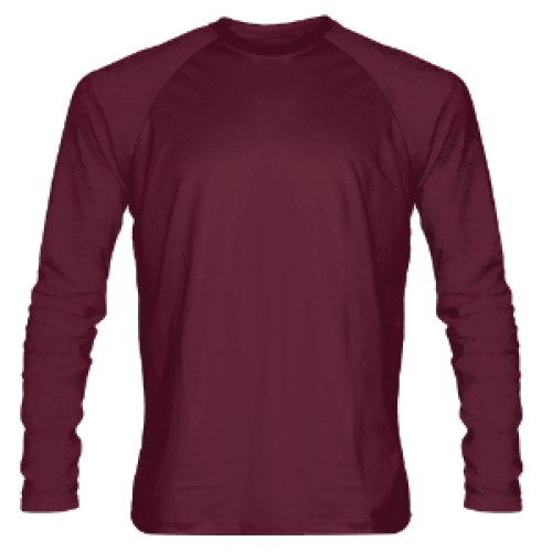 Maroon+Long+Sleeve+Shooter+Shirts