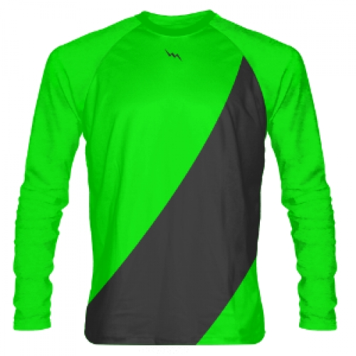 Neon+Green+Long+Sleeve+Shooter+Shirts