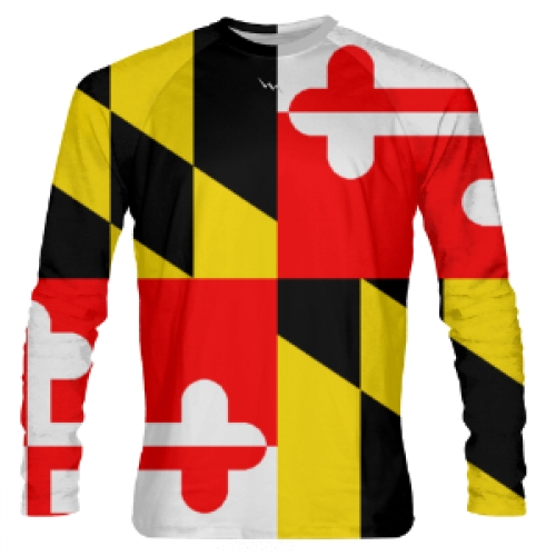 Maryland+Flag+Long+Sleeve+Shirt