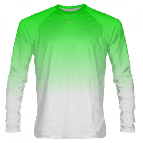 Neon+Green+to+White+Fade+Long+Sleeve+Shooter+Shirts