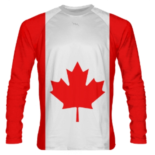 Long+Sleeve+Canada+Flag+Shooter+Shirts
