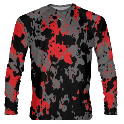 Paint+Splatter+Long+Sleeve+Shooter+Shirts