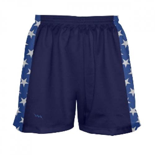 Girls+Navy+Blue+and+Stars+Lacrosse+Shorts
