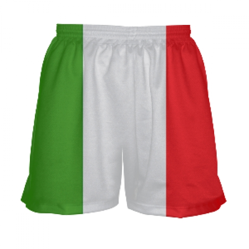Ladies+Lacrosse+Shorts+-+Italian+Flag