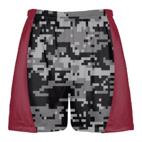 Black+Digital+Camouflage+Lacrosse+Shorts