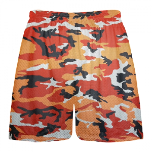 Orange+Camouflage+Lacrosse+Shorts