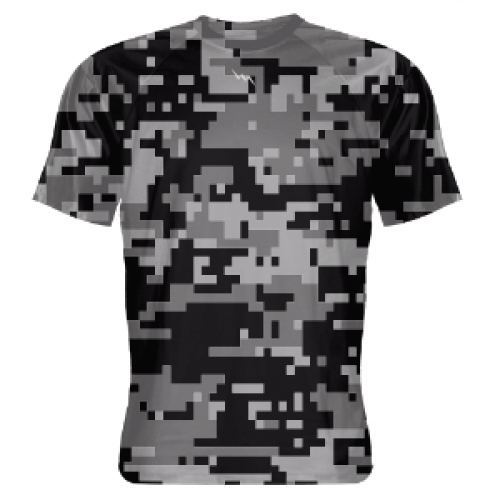 Black+Digital+Camouflage+Shooter+Shirts
