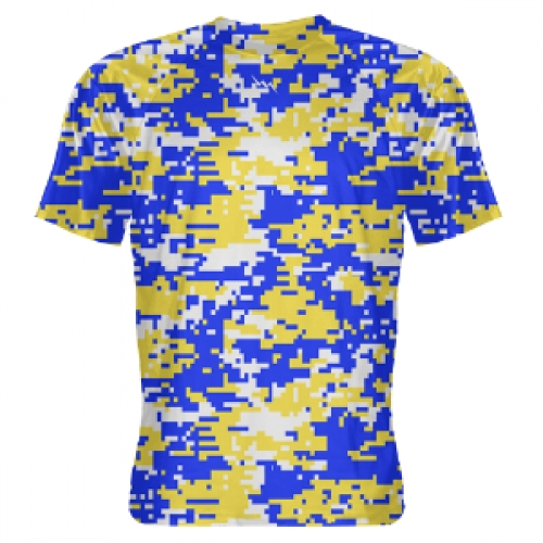 Blue+Gold+Digital+Camouflage+Shooter+Shirts