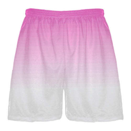 Pink+to+white+Fade+Lacrosse+Short
