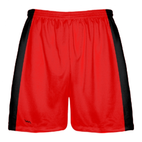 Red+and+Black+Lacrosse+Shorts