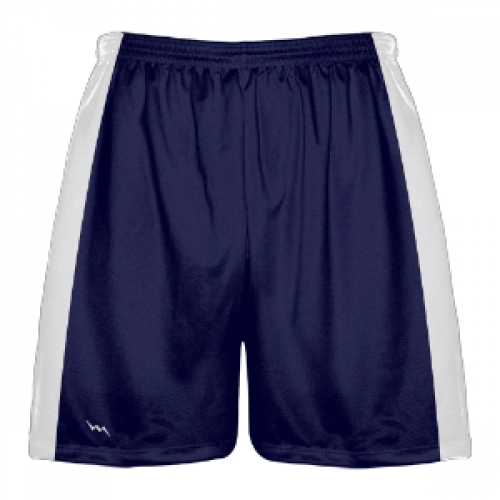 Navy+Blue+and+White+Lacrosse+Shorts