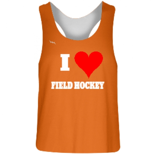 Orange+and+White+Field+Hockey+Pinnies