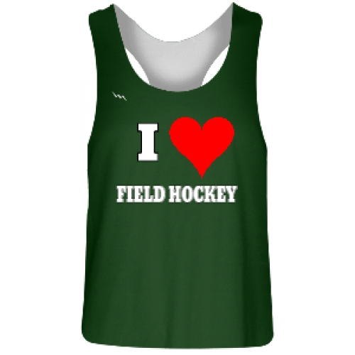 Dark+Green+Field+Hockey+Reversible+Pinnie