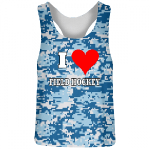 Blue+Digital+Camouflage+Reversible+Field+Hockey+Jerseys