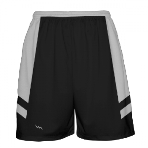 Black+Basketball+Shorts+Silver