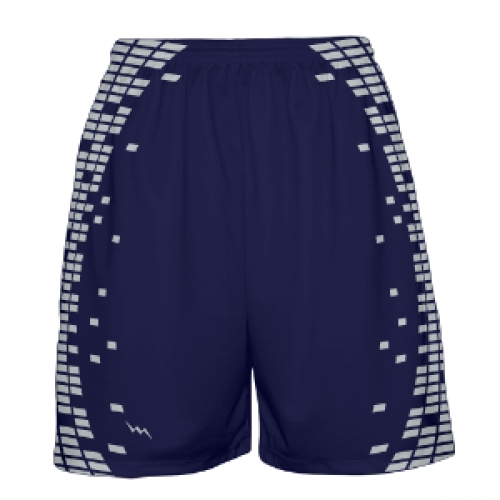 Navy+and+Silver+Basketball+Shorts