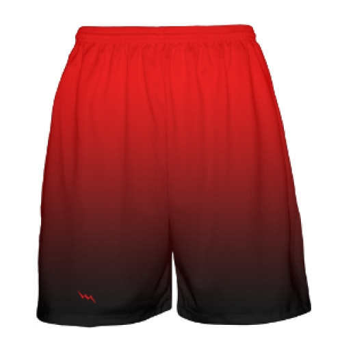 Red Black Fade Basketball Shorts