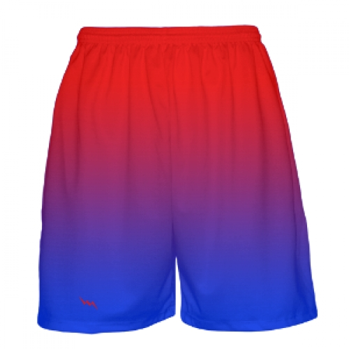 Red To Blue Fade Basketball Shorts Shorts Basketball