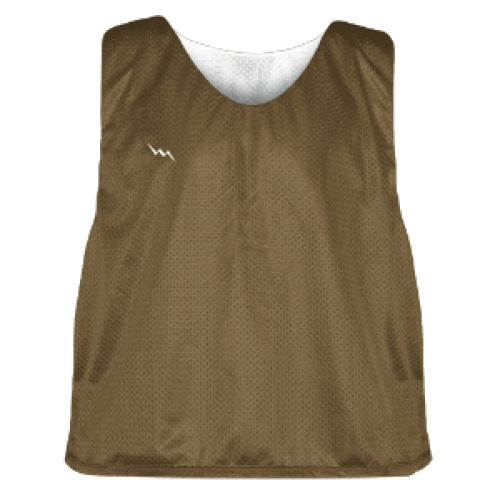 Brown+and+White+Soccer+Pinnies