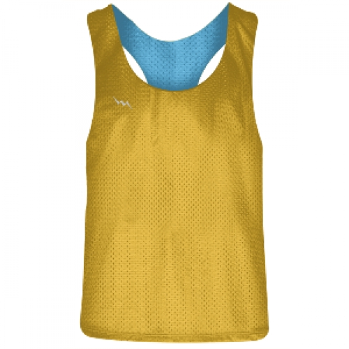 Girls+Racerback+Pinnie+Athletic+Gold