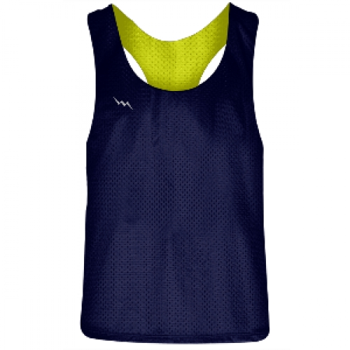 Girls+Racerback+Pinnie+Navy+Blue