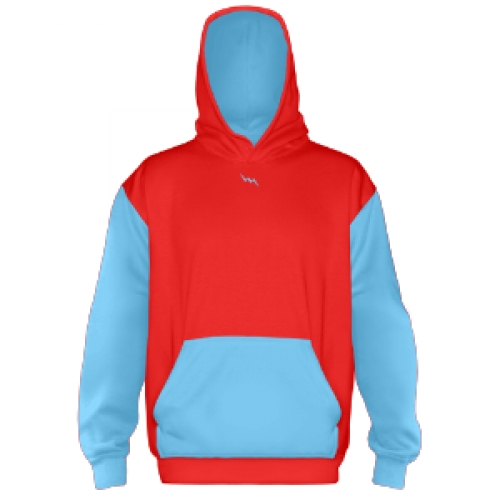Custom+Hooded+Sweatshirts+Red