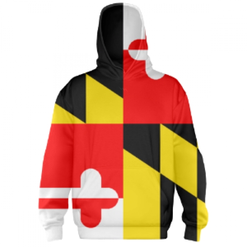 Maryland+Flag+Hooded+Sweatshirt