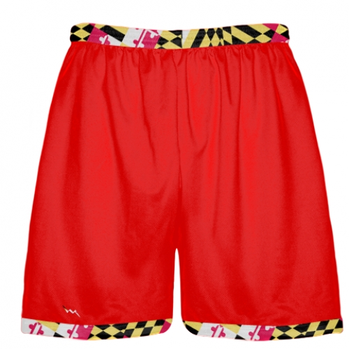 Maryland+Flag+Shorts+Red