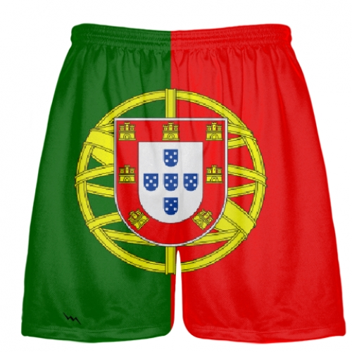 Portugal+Flag+Shorts+Soccer