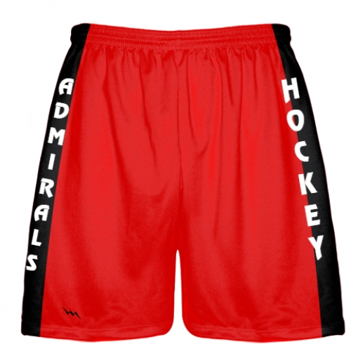 Red+Hockey+Shorts