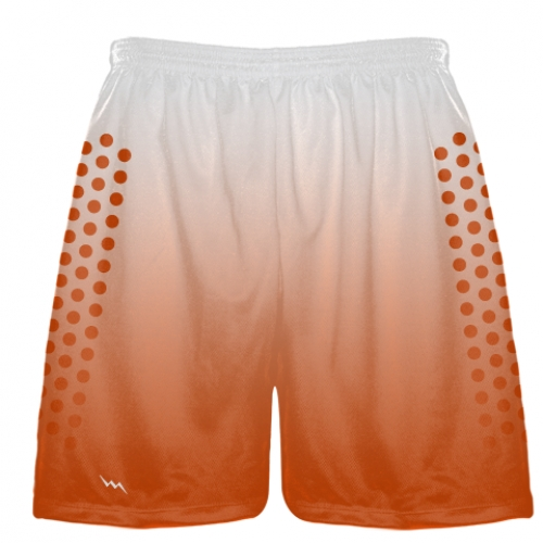 White+Orange+Fade+Sublimated+Football+Shorts