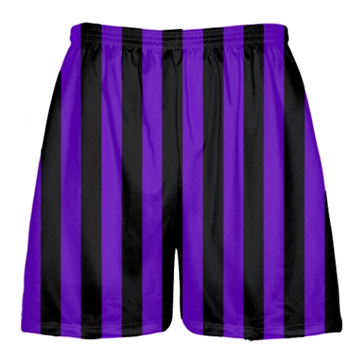 Purple+and+Black+Striped+Shorts