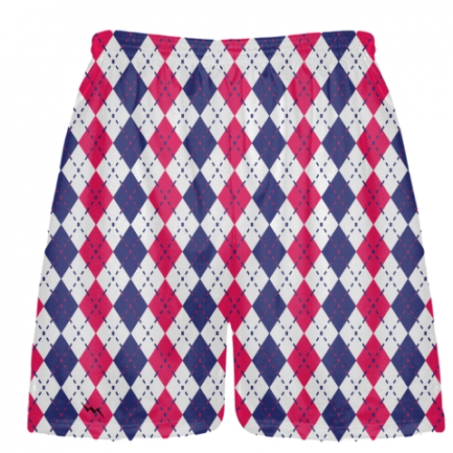Navy+Blue+Red+and+White+Argyle+Lacrosse+Shorts