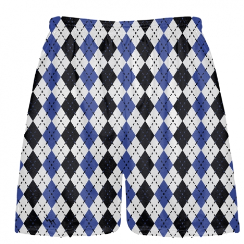 Royal+Blue+and+Black+Argyle+Lacrosse+Shorts