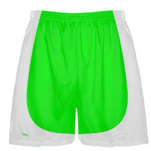 Neon+Green+Football+Practice+Shorts
