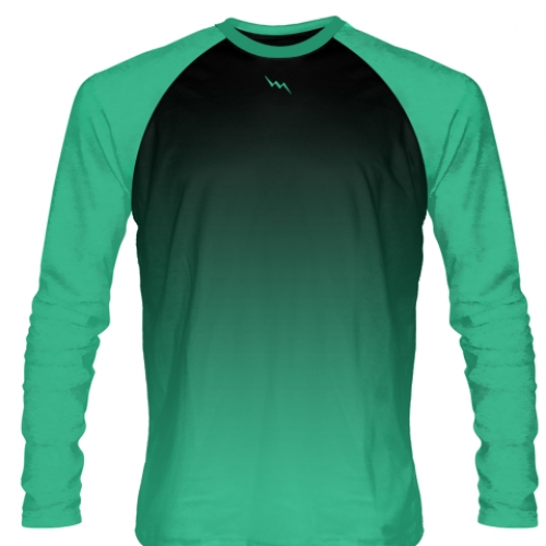 Teal+and+Black+Long+Sleeve+Soccer+Jersey