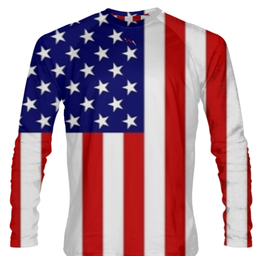 American+Flag+Long+Sleeve+Soccer+Jerseys