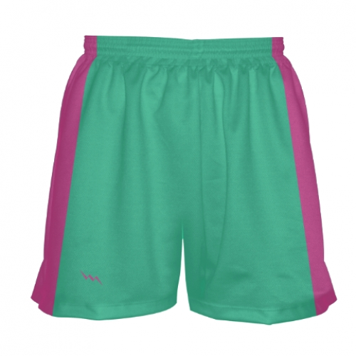Teal+and+Pink+Girls+Lacrosse+Shorts