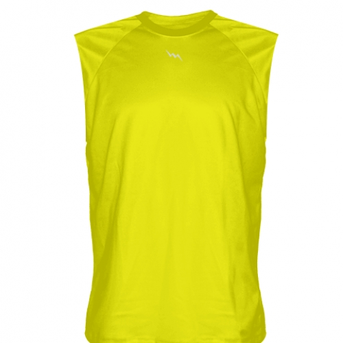 Yellow+Sleeveless+Football+Practice+Shirts