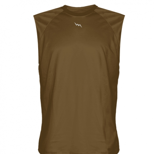 Brown+Sleeveless+Football+Practice+Shirts