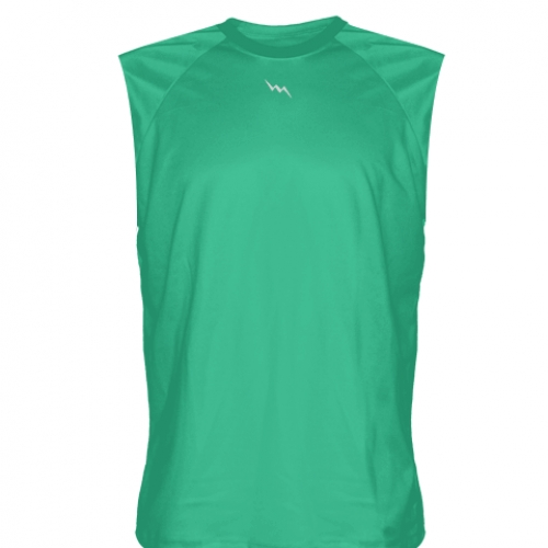 Teal+Sleeveless+Practice+T+Shirts