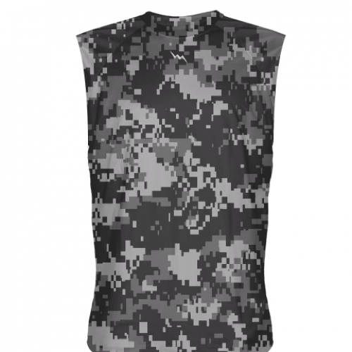 Digital+Camouflage+Sleeveless+Shirts
