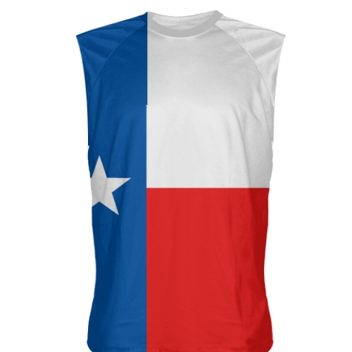Texas+Flag+Sleeveless+Shirts